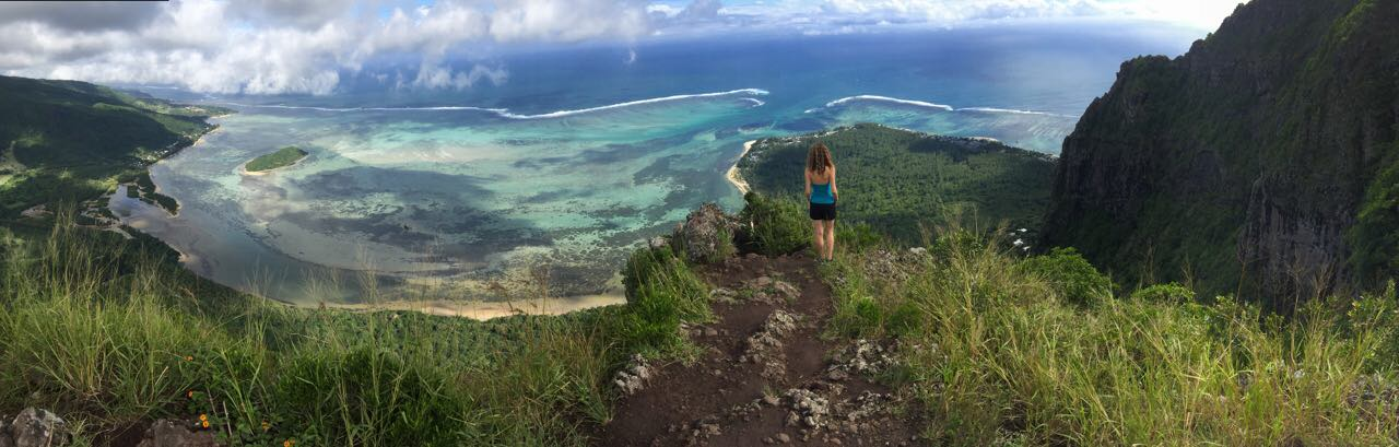 hiking na goro La Morne