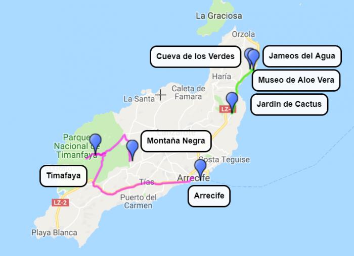 Lanzarote, 3. in 4. dan