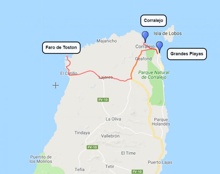 Fuerteventura, 1.dan, ogled severa