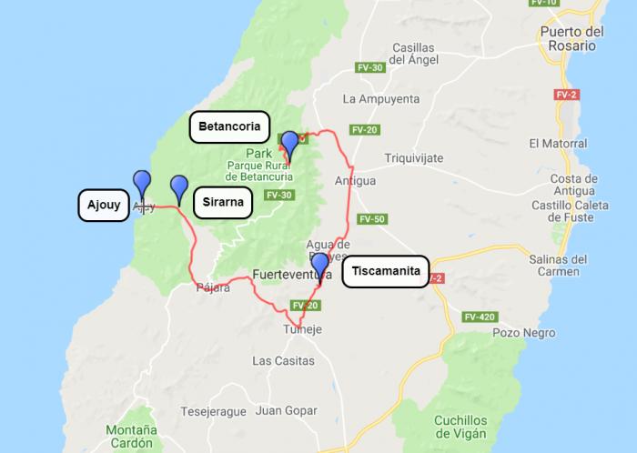 Fuerteventura, 2.dan, ogled osrednjega dela otoka